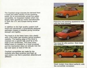 Crayford Corsair brochure page 3