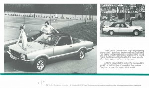 Crayford Automotive Design brochure inside back cover