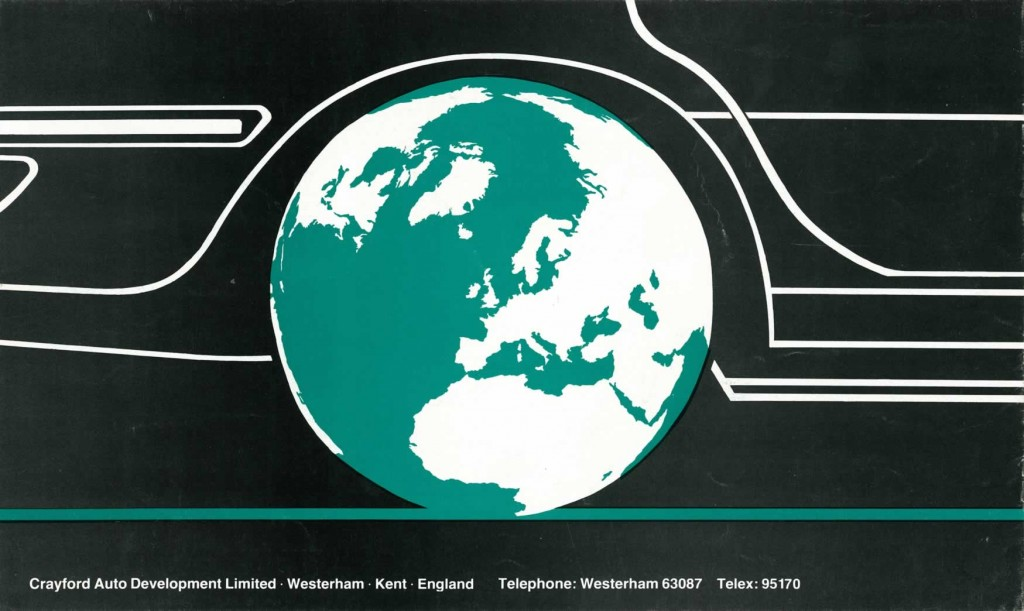 Crayford Automotive Design brochure back cover