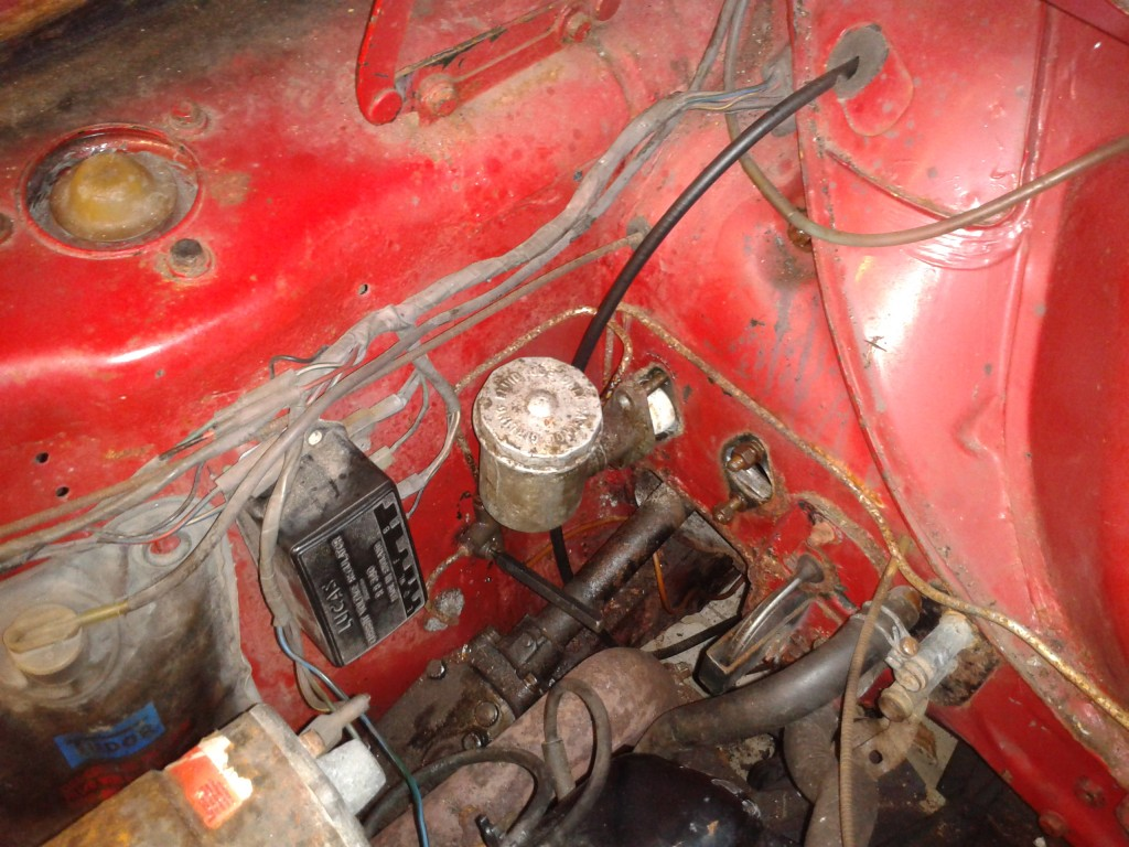 Brake master cylinder due for removal