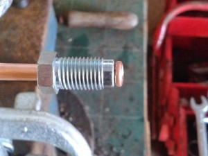 copper pipe flared with male union