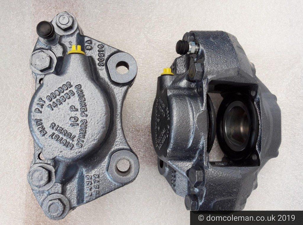Refurbished brake calipers