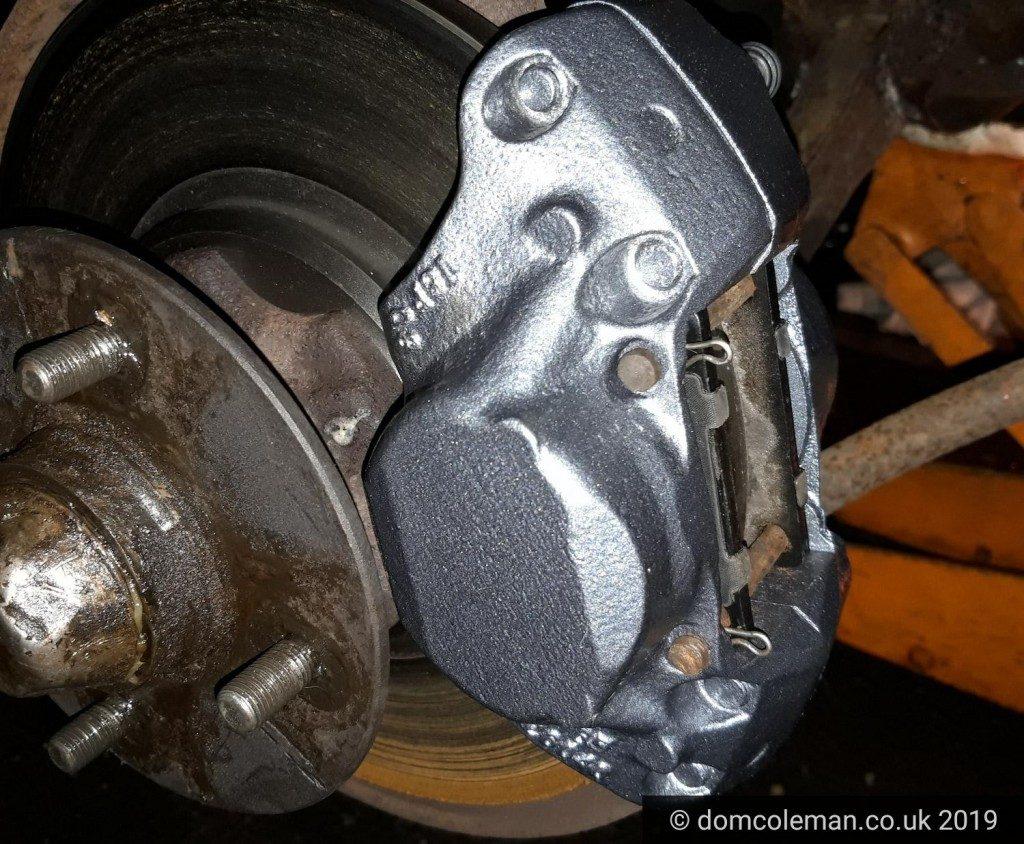 Refurbished off-side brake caliper