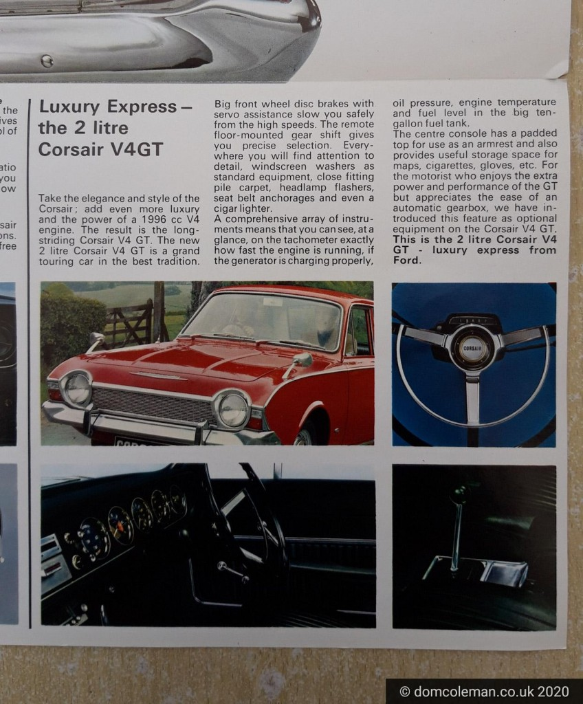 Ford Corsair V4 brochure